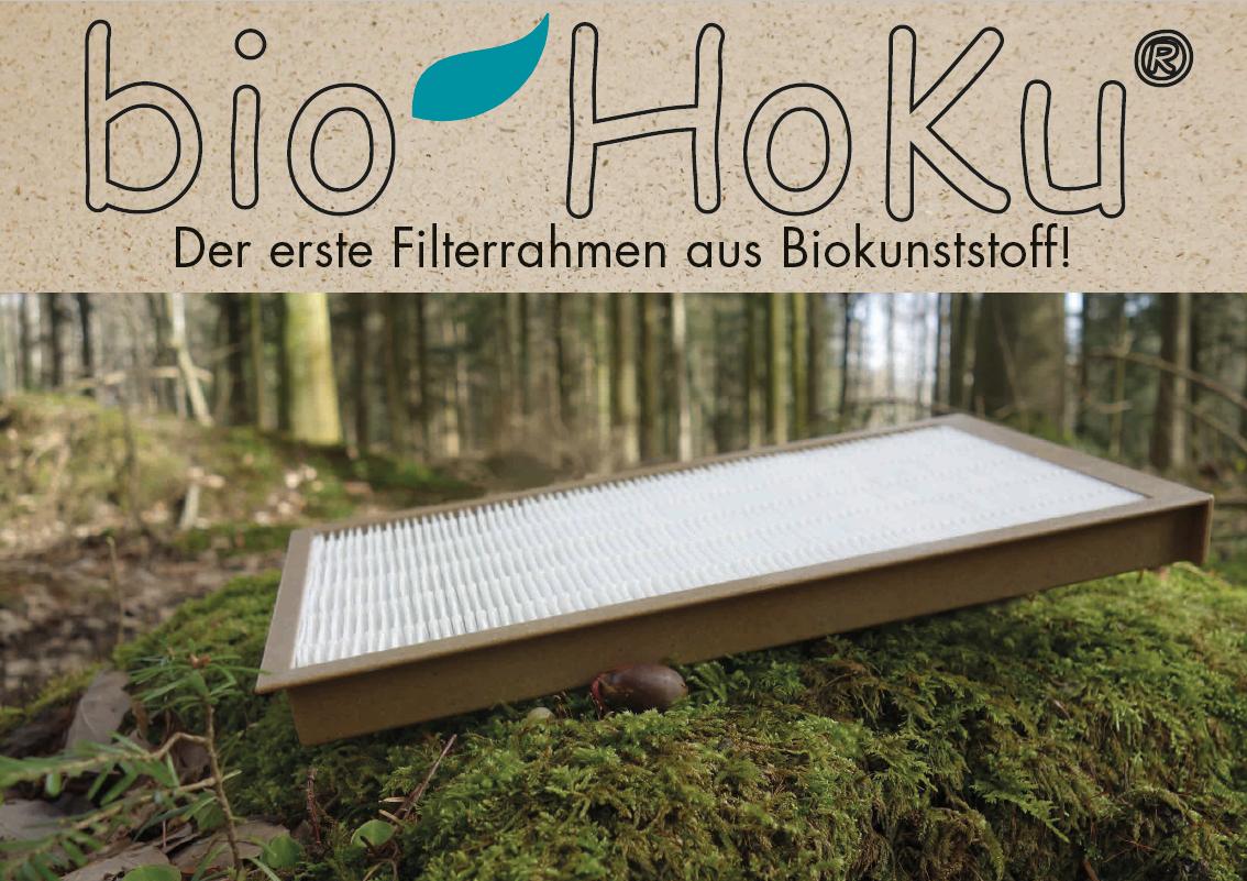 bio HoKu® Erster Filterrahmen aus Biokunststoff